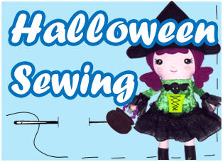 Halloween pdf sewing pattern plush and doll patterns by dolls and daydreams