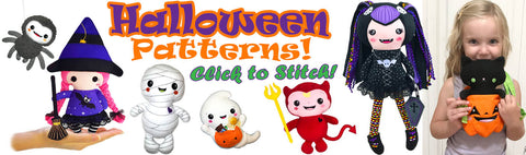 Halloween sewing and ITH patterns to stitch out fast and fun