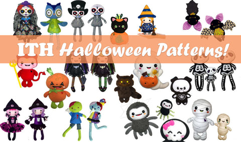 Halloween In the hoop patterns by doll and daydreams