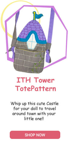 ITH Tower Tote Travel Bag Pattern machine embroidery