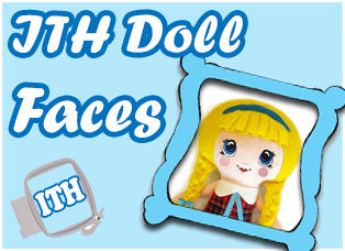 Machine Embroidery Doll Faces by dolls and daydreams
