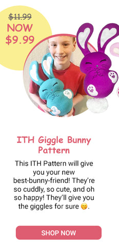 Giggle Bunny ITH Machine Embroidery Pattern SALE