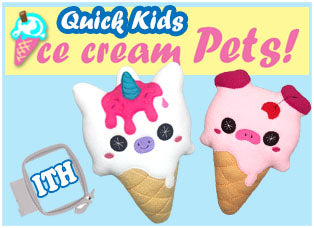 Ice Cream Pet Plushie Patterns Kawaii Soft Toy by Dolls And Daydreams