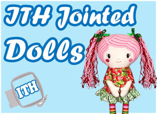 In The Hoop Machine Embroidery Jointed Doll Patterns