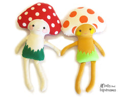 alita mushroom baby sewing pattern by dolls and daydreams