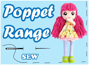 Poppet Doll Sewing pattern Range by Dolls And Daydreams