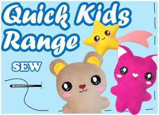Quick Kids Kawaii Cute Plush Sewing Pattern Range by Dolls And Daydreams