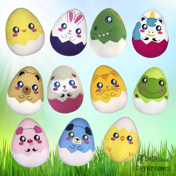 hatchling easter egg sewing and machine embroidery patterns