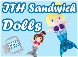 In The Hoop Machine Embroidery Sandwich Dolls