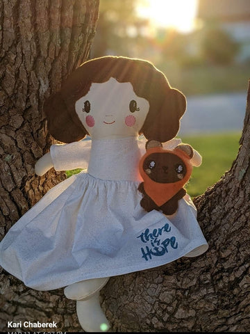 ewok and princess leia Star wars doll fan art patterns sewing and machine embroidery