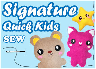 Signature Quick Kids Kawaii Cute Plush Sewing Patterns by Dolls And Daydreams