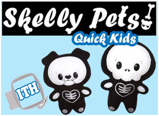 Skelly Pets Plush Toy Patterns Kawaii Cute Halloween by Dolls And Datdreams