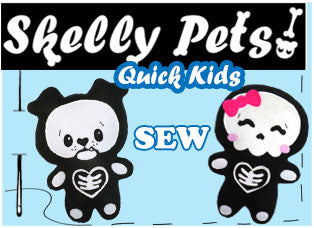 Skeleton Kawaii Cute Plush Sewing Patterns by Dolls And Daydreams