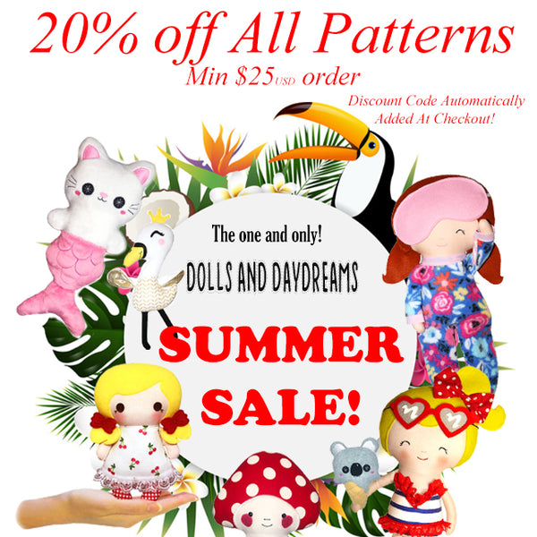 dolls and daydreams summer sale