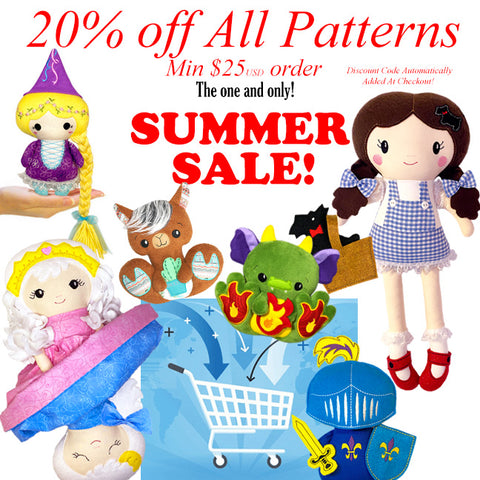 Summer Sale 2021 dolls and plush toy patterns
