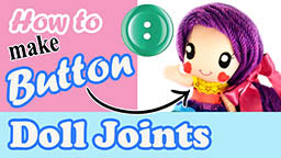 How to make a doll button joint video tutorial
