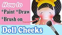 how to brush on cloth doll cheeks video