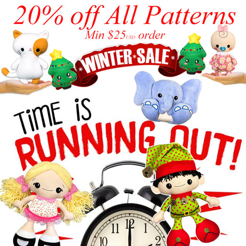 Winter Doll Pattern Sale ends Saturday