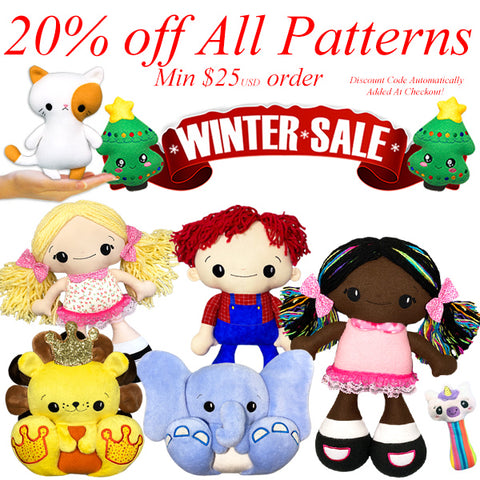 Dolls And Daydreams Winter Sewing and Machine embroidery pattern sale black Friday cyber Monday