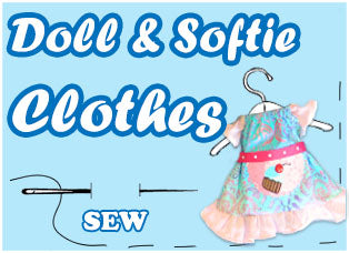 Doll and Softie Clothes Patterns by Dolls And Daydreams