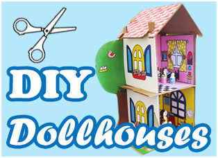 DIY Cardboard Dollhouses and Printouts by Dolls And Daydreams