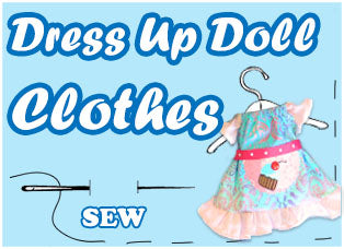 Dress-up-clothes Doll & Softie Sewing Patterns by Dolls And Daydreams