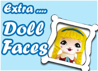 Extra Doll Face Patterns by Dolls And Daydreams