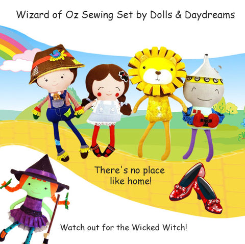 Wizard of Oz sewing pattern set by Dolls And Daydreams