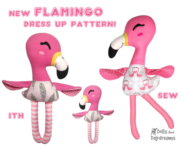 flamingo sewing and ITH Pattern