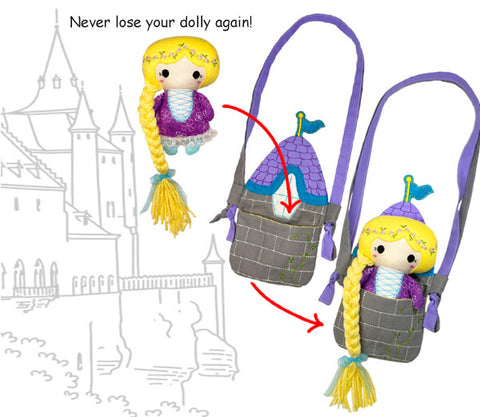 Tower Tote travel Bag pattern sewing and In The Hoop machine embroidery by dolls and daydreams