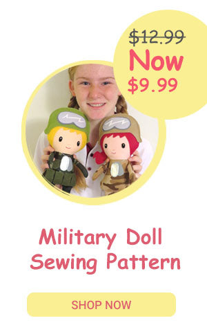 Military Cloth Doll Sewing Pattern by Dolls And Daydreams