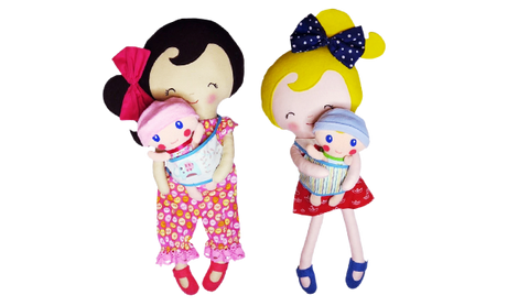 baby wearing dolls for kids handmade easy diy sewing pattern and machine embroidery
