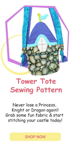 PDF Tower Tote Travel Doll Bag Sewing Pattern by dolls and daydreams
