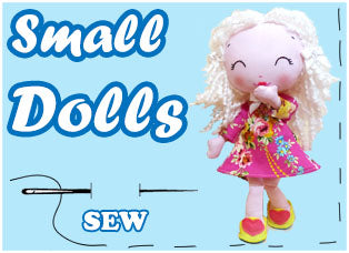 Small Cloth Doll Sewing Patterns by Dolls And Daydreams