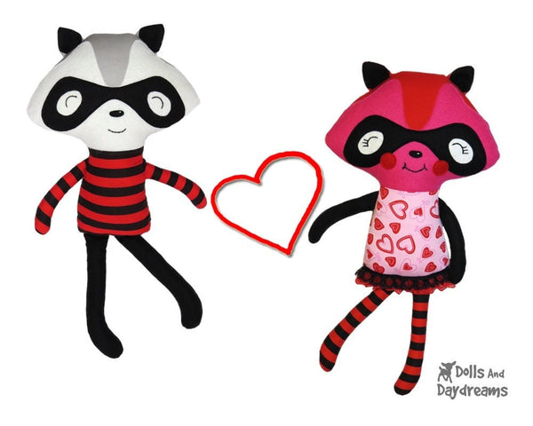 Raccoon Love Bandit Sewing Pattern - Dolls And Daydreams - 6