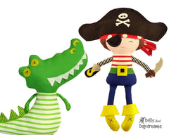 Peter Pan Play Set 1 Captain Hook and Crocodile