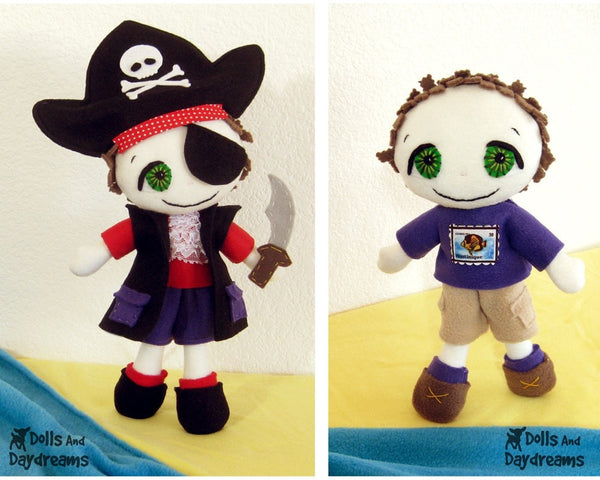 Freddy the Pirate Sewing Pattern - Dolls And Daydreams - 1