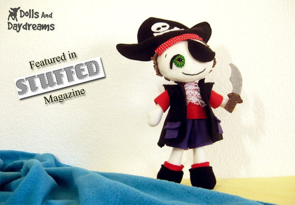 Freddy the Pirate Sewing Pattern - Dolls And Daydreams - 2