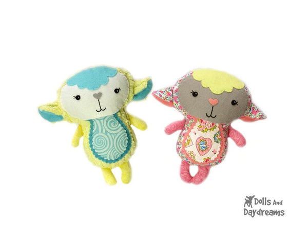 Baby Lamb Sewing Pattern - Dolls And Daydreams - 1