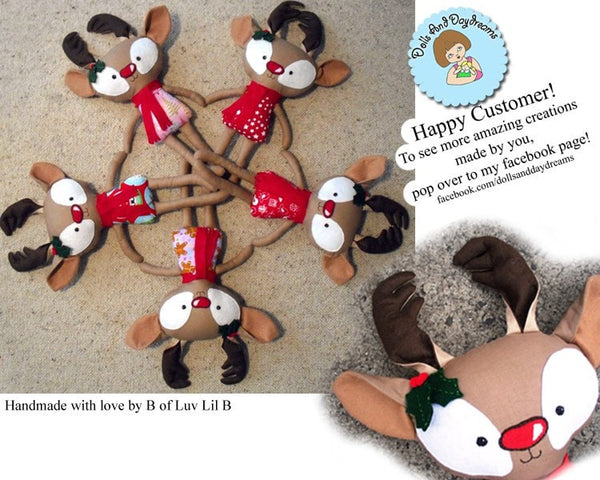 Rudolph Reindeer Sewing Pattern - Dolls And Daydreams - 5