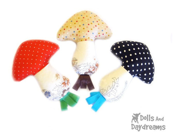 Mushroom Baby Rattle Sewing Pattern - Dolls And Daydreams - 1