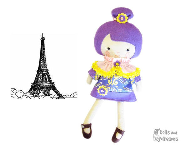 French Dress and Cape Sewing Pattern - Dolls And Daydreams - 2