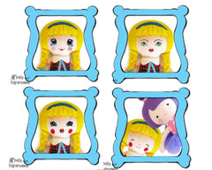 All 5 Girl Doll Face Embroidery Machine Patterns