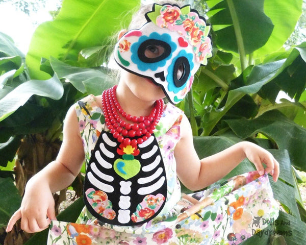 Sugar Skull Mask & Necklace Pattern - Dolls And Daydreams - 2
