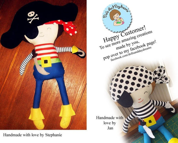 Pirate Sewing Pattern - Dolls And Daydreams - 5
