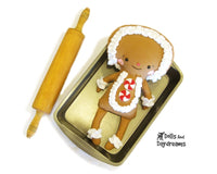 Gingerbread Man Sewing Pattern - Dolls And Daydreams - 1