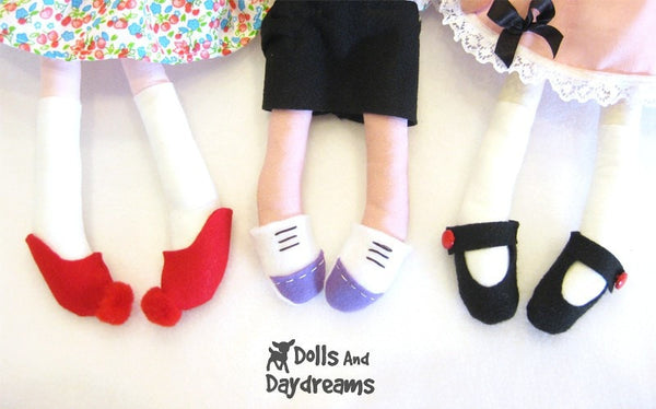 Doll and Toy Shoe Sewing Patterns - Dolls And Daydreams - 2