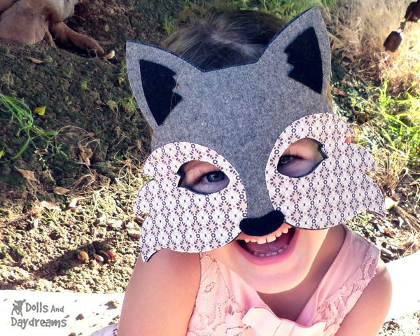 Wolf Mask & Tail Pattern - Dolls And Daydreams - 5