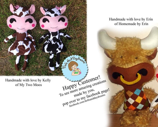 Cow Sewing Pattern - Dolls And Daydreams - 5