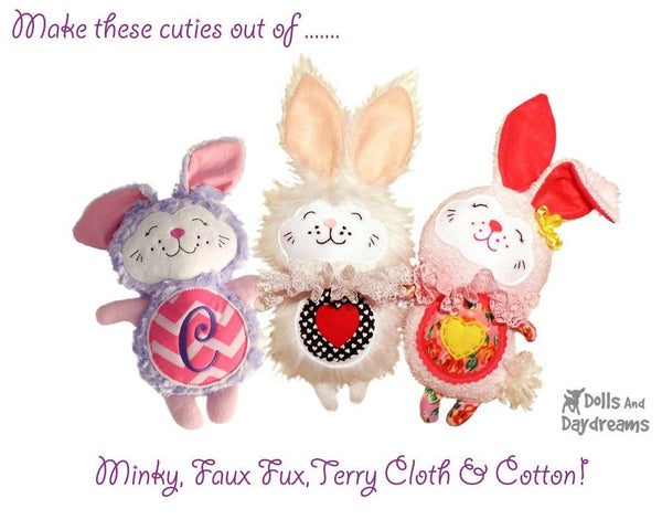 Love Bunny Sewing Pattern - Dolls And Daydreams - 2